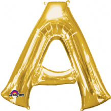 "Gold Letter A Balloon - Gold Letter Balloon (34"")"